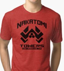 Nakatomi Towers Los Angeles CA T-Shirt Funny Cool Tri-blend T-Shirt