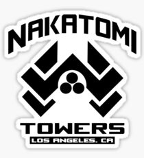 Nakatomi Towers Los Angeles CA T-Shirt Funny Cool Sticker