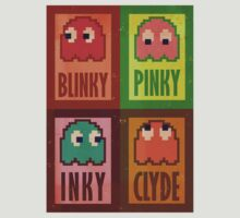 Blinky, Inky, Pinky and Clyde by WheelOfFortune