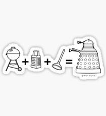 Grill + Grater + Plunger = Dalek Sticker