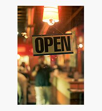 Open Late Photographic Print