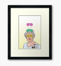 Cool Down - Queen Elizabeth II Framed Print