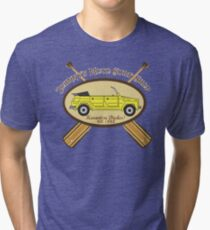 Johnny's Moto Surf Shop Tri-blend T-Shirt