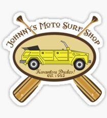 Johnny's Moto Surf Shop Sticker