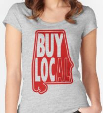 Buy Local Alabama Red Fitted Scoop T-Shirt