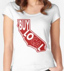 Buy Local Ca Fitted Scoop T-Shirt