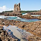 Coastal Waters - Cathedral Rocks by Dilshara Hill