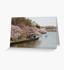 Tidal Basin Washington DC. Greeting Card