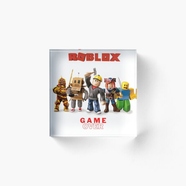 Roblox On Phone Roblox Build Your Dreams Wattpad Roblox Tycoon Acrylic Blocks Redbubble