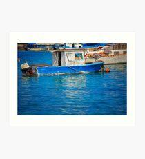 Fisherman boat Art Print