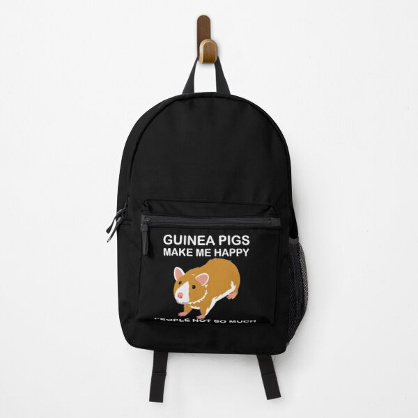Guinea pig make me happy people not so much,Funny Guinea Pig Gift Backpack