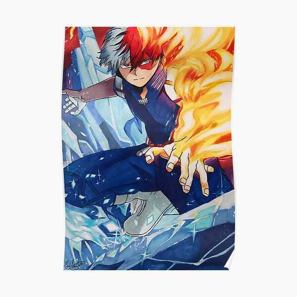 Shoto Todoroki, My Hero Academia, Boku No Hero Poster