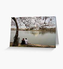 Reflection. Tidal Basin. Greeting Card