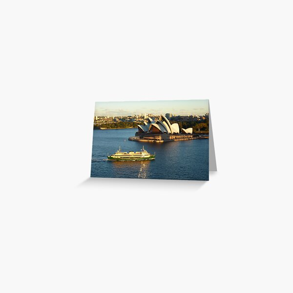Sydney Opera House from the Harbour Bridge Greeting Card
