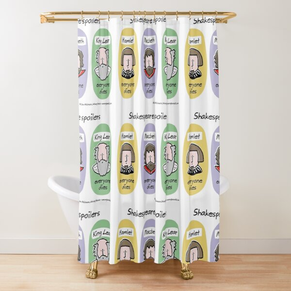 Shakespeare spoilers Shower Curtain
