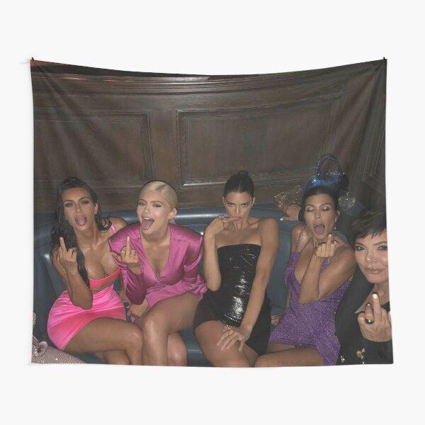 Doigt du milieu des Kardashians Tentures