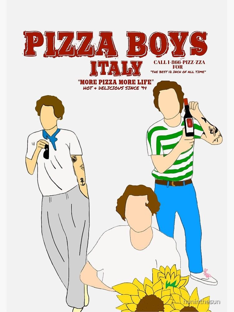 PIZZA BOYS POSTER/PRINT by huninthesun