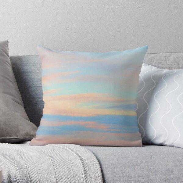 Sunset on a frosty evening Throw Pillow