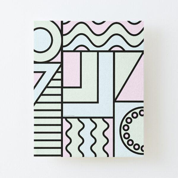 Geometric Pastels Canvas Mounted Print