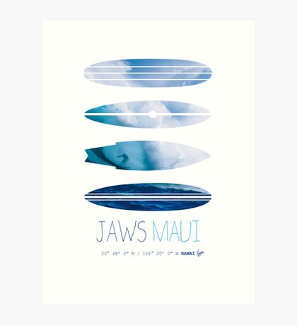 My Surfspots poster-1-Jaws-Maui Art Print