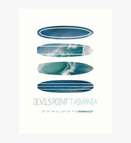My Surfspots poster-5-Devils-Point-Tasmania Art Print
