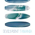 My Surfspots poster-5-Devils-Point-Tasmania by Chungkong