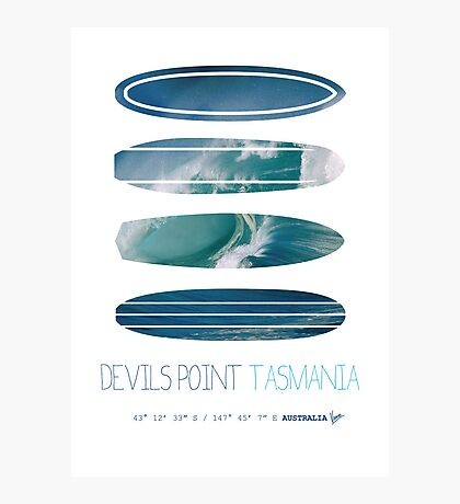 My Surfspots poster-5-Devils-Point-Tasmania Photographic Print