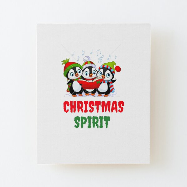 Christmas Spirit fun tee Wood Mounted Print