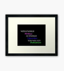 With Enough Monkeys at Enough Typewriters Framed Print