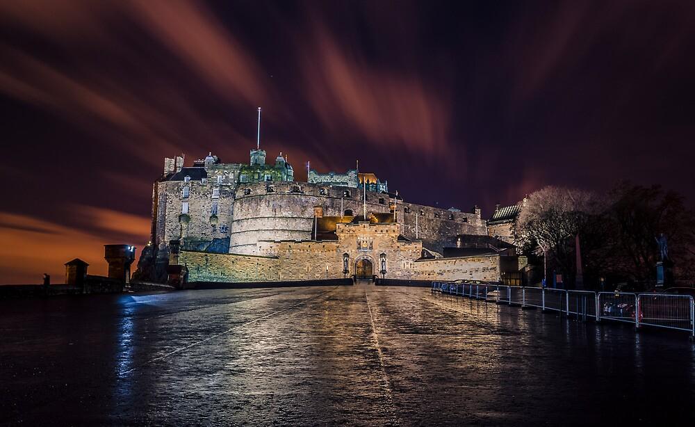"""Edinburgh castle at night."" by Graeme Ross | Redbubble"
