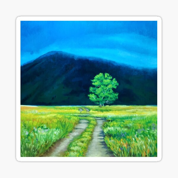Path to the Unknown Fine Art by American Artist Hilary J. England Sticker