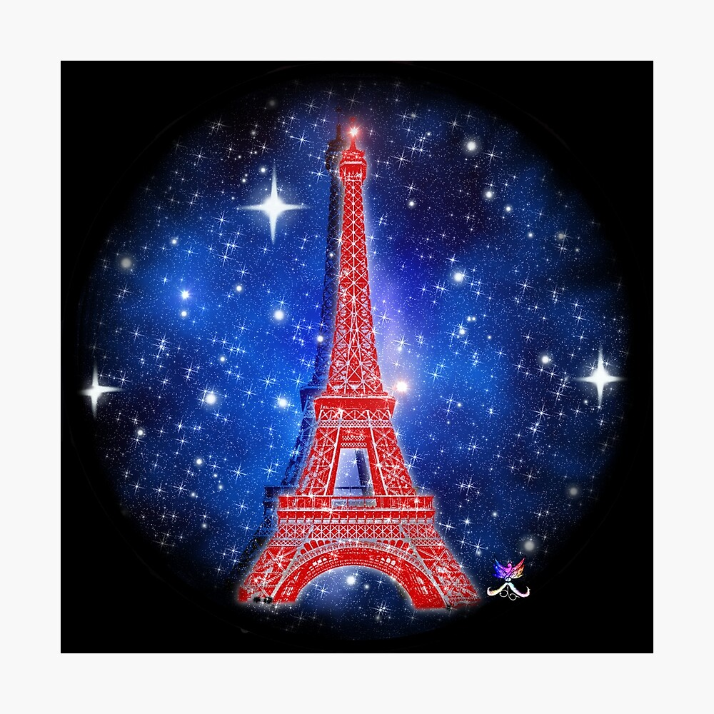 Paris Psg France Eiffel Tower Galaxy Foot Poster By Jolly Yosei Redbubble