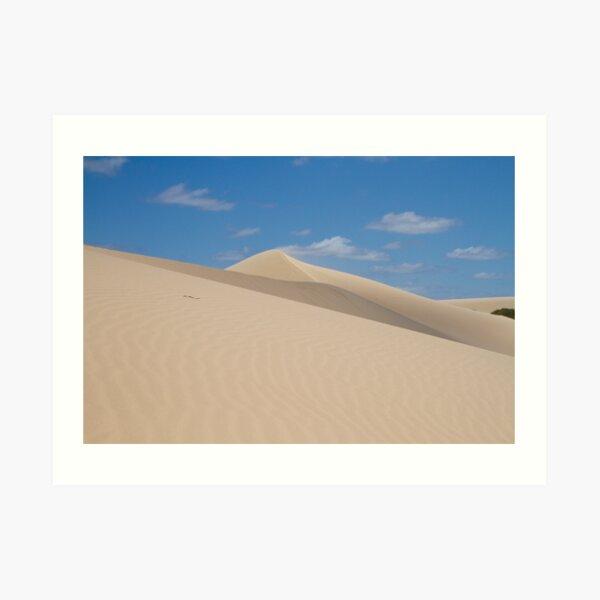 Dune climb Art Print