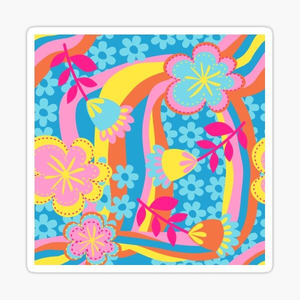 Flower Power Summer Sticker