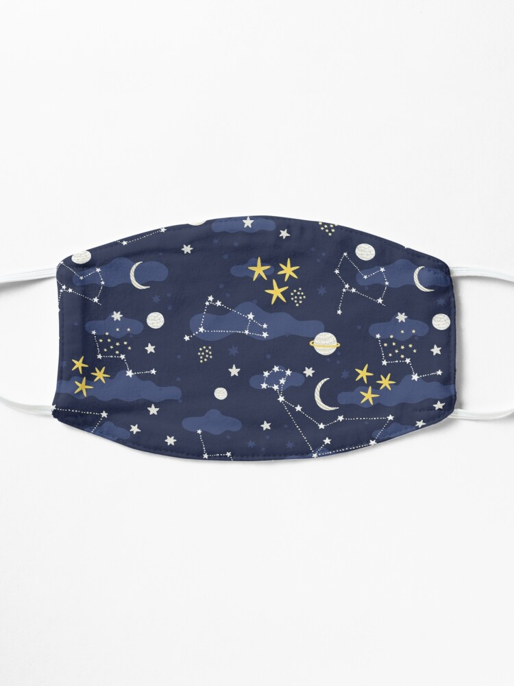 Alternate view of Galaxy - cosmos, moon and stars. Astronomy pattern. Cute cartoon universe design. Mask