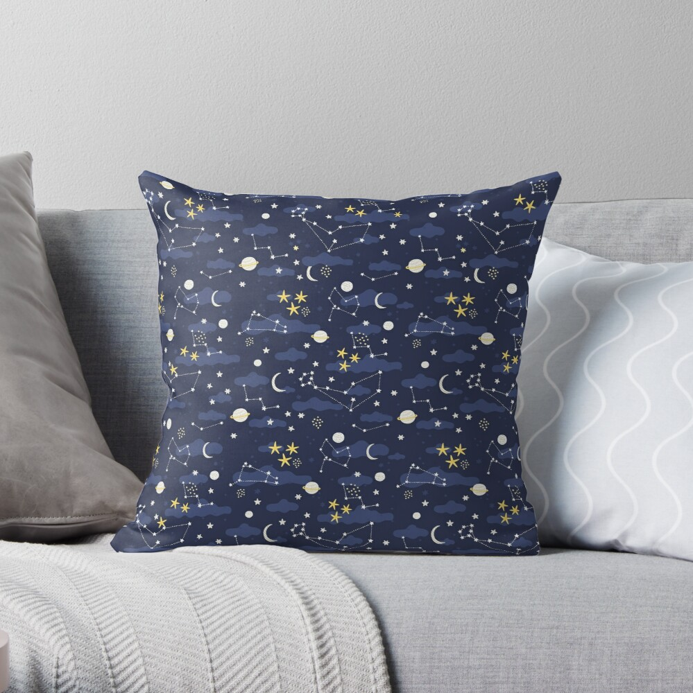 Coussin « Galaxie - cosmos»