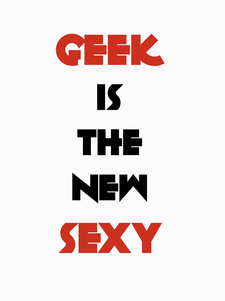 Geek is the New Sexy - Black&Red by Geriperi