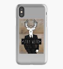 •stay weird• deer iPhone Case/Skin