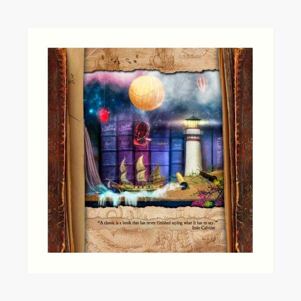The Curious Library Calendar - February Art Print