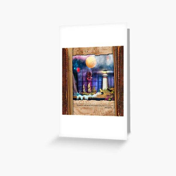 The Curious Library Calendar - February Greeting Card
