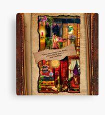 The Curious Library Calendar - April Canvas Print