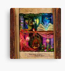 The Curious Library Calendar - May Canvas Print
