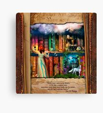 The Curious Library Calendar - June Canvas Print