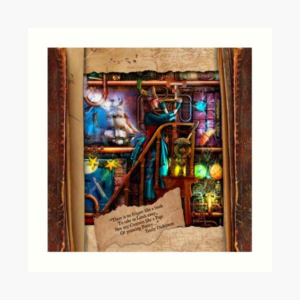 The Curious Library Calendar - August Art Print