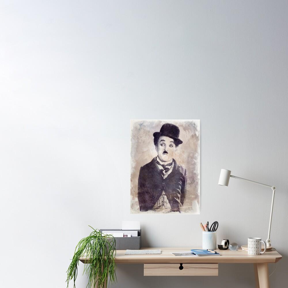 Chaplin - Watercolor Vintage - D6 Póster