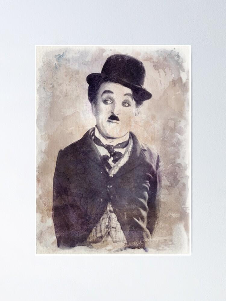 Vista alternativa de Póster Chaplin - Watercolor Vintage - D6