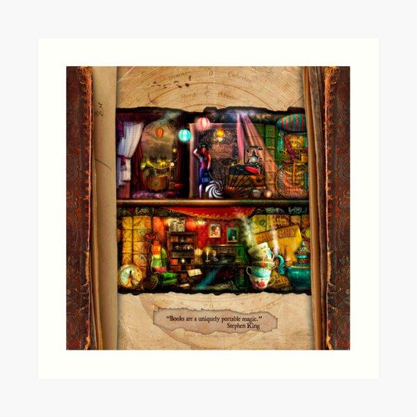 The Curious Library Calendar - September Art Print