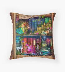 The Curious Library Calendar - December Throw Pillow