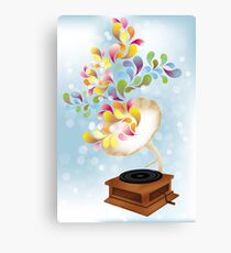 Creative music player poster Canvas Print