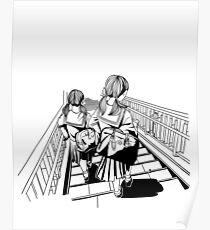 Japanese School Girls Poster